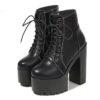 platform heel boots