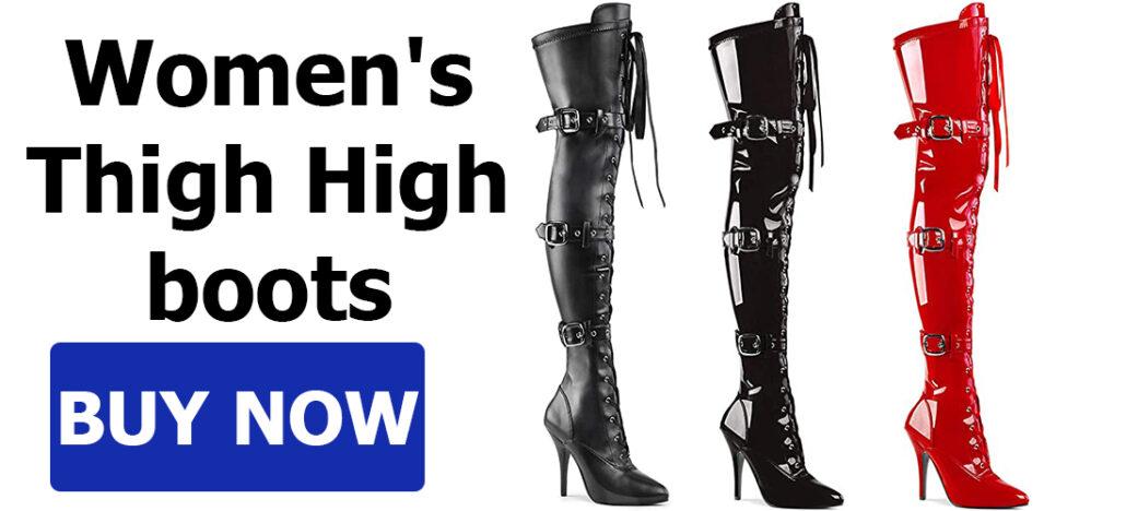 Long thigh high boots