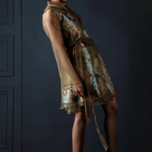 Anny khawaja brand, Anny khawaja dresses, Buy Anny khawaja dresses online, Anny khawaja fashion designer, Lining tissue coat, raw silk